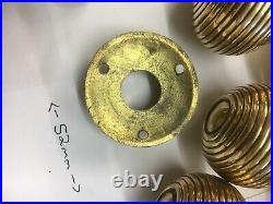 10 Pairs Brass Beehive Door handles Antique Style reeded Mortice Brass Door Knob