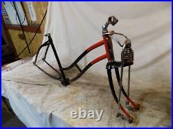 1950s JC HIGGINS BEEHIVE SPRINGER FORK+FRAME COLOR FLOW BICYCLE VINTAGE 50 JET