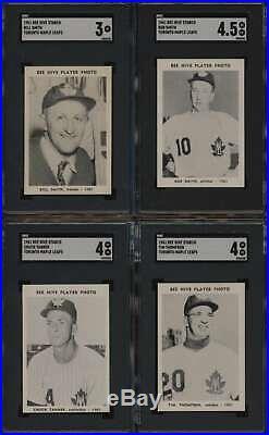 1961 Maple Leafs Bee Hive Baseball SGC 4-4.5 av graded nr set 23/24 +album 50783