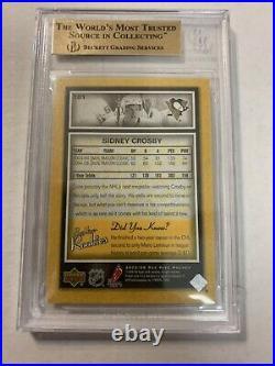 2005/06 Upper Deck Beehive Sidney Crosby Rookie Card #101 BGS 10 Pristine! Rare