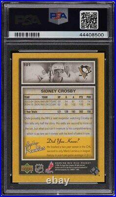 2005 Upper Deck Bee Hive Sidney Crosby ROOKIE RC #101 PSA 10 GEM MINT