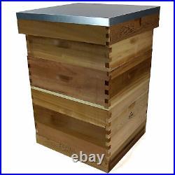 2NDS Dadant Bee Hive Bee Keeping Cedar 2 Super 1 Brood Beekeeping Beehive 5016