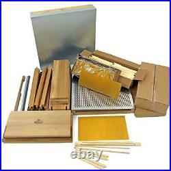 2NDS National Bee Hive Bee Keeping Cedar 2 Super 1 Brood frames & wax 7182W