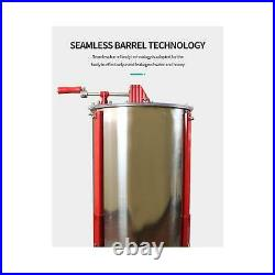 2 Frame Honey Extractor Stainless Manual Spinner Crank Honey Bee Hive Beekeeping