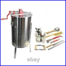 2 Frame Honey Extractor with Complete Beginners Bee Hive Tool Kit GL-E2-TK1