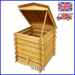 328 L Wooden Beehive Composter Garden Bin Waste Eco Friendly Compost Leaves Box