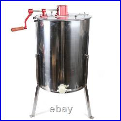 4 Frames Manual Honeycomb Honey Extractor Bee Hive Honey Spinner Extracting Tool