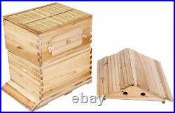 4pcs Auto Flowing Honey Hive Beehive Frames & Beekeeping Brood Cedarwood Box Set