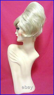 60s DUSTY SPRINGFIELD BEEHIVE Wig! Custom Costume Drag Queen Blonde ALL COLORS