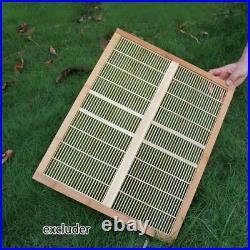7PCS Auto Harvest Honey Hive Beehive Frames+Beekeeping House Cedarwood Box Set