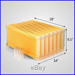 7PCS Auto Honey Beekeeping Beehive Raw Bee Comb Hive Frames Harvesting UK STOCK