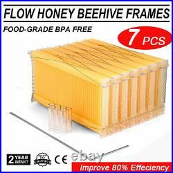 7PCS Free Running Honey Hive Beehive Frames+Beekeeping House Cedarwood Box Set