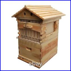 7PC Upgraded Beekeeping Tool Hive Frames & Honey Flow Beehive Wooden Brood Box A