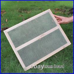 7 Auto Free Flowing Honey Hive Beehive Frames Beekeeping Brood Cedarwood Box