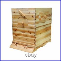 7pcs Auto Honey Hive Beehive Frames + Beekeeping Wooden House Up Box Set