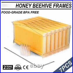 7pcs Hive Frames Beehive Raw Bee Comb Harvesting Bee Hive Frame Beekeeping Honey