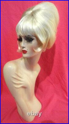90s PATSY STONE Ab Fab BEEHIVE Wig! Custom Costume Drag Queen Blonde ALL COLORS