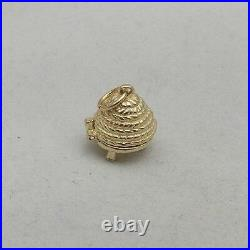 9ct GOLD OPENING BEEHIVE CHARM