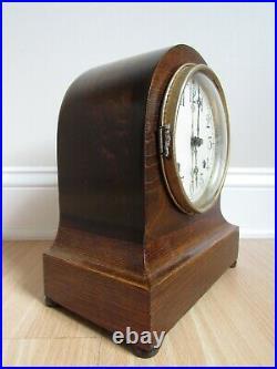 ANTIQUE NEW HAVEN BEEHIVE mantel clock AURIS table bob pendulum MAHOGANY