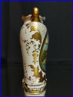 A 9 (23 cm) Royal Vienna Portrait Vase SIGNED Lubel Beehive Austria Antique