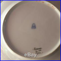 Antique Cabinet Portrait Plate Lady Bianca Beehive Royal Vienna depose gold ornt