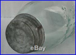 Antique Fruit Jar Masons 1 Patent 1858 Aqua Midget Pint Early Beehive