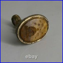 Antique Georgian Wax Seal Fob Intaglio Beehive And Bees F22