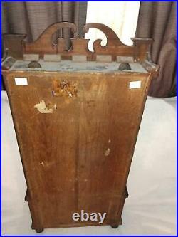 Antique J C Brown Forestville triple decker clock 1840s