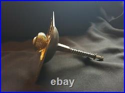 Antique Reclaimed Brass Victorian (Bee Hive) Door Pull Bell Knocker (EH432)