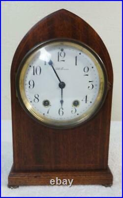 Antique Seth Thomas Beehive Inlaid Mantle Clock Nice