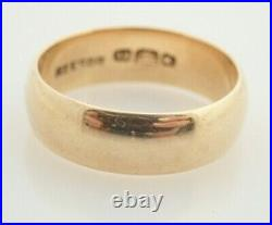 Antique Solid 18k Yellow Gold B Beehive Mark Reesor Wedding 5.5mm Band Ring 5.5