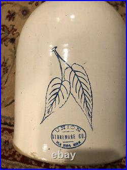 Antique Stoneware Redwing 5 Gallon Beehive Jug With Birch Leaves