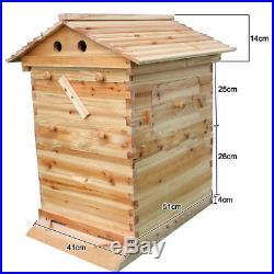 Auto Bee Hive Honey Frame Beekeeping Wooden House Box Brood Upgraded Neu DE