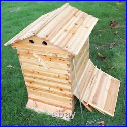 Auto Honey Bee Hive Beekeeping Beehive Brood House 7 Box Cedarwood Honey Nest
