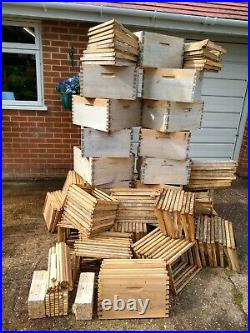 Bee Hive Commercial Brood Boxes And Frames New And Used. £580 Cash On Collection