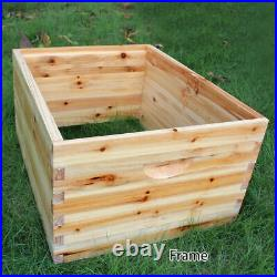 Bee Hive House Super Brood 2-Layer Bee Keeping Box House 7pcs Bee Hive Frames UK
