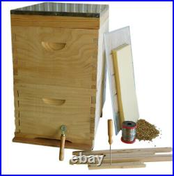 Beehive 20 Frames New Zealand Pine 2 X Boxes, Lid, Base, Frames, Wax, Wiring Kit