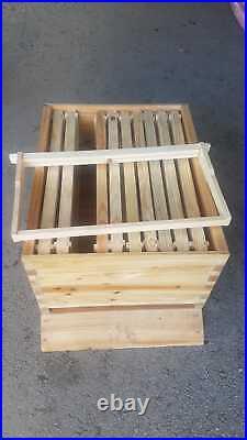 Beehive 7pc plastic flow frames 10 brood frames. Beekeeping honey
