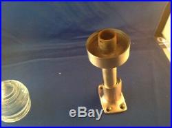 Beehive Boat Stern Light Satin Finish Bronze Glass Lens Running Light
