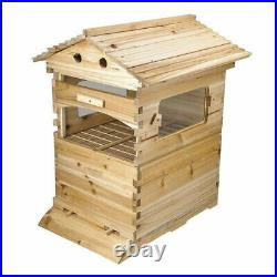 Beehive Super Beekeeping Brood House Box with 7pcs Auto Honey Bee Hive Frames Set