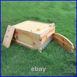 Beehive Super Beekeeping Brood House Cedar Box with 7 Auto Honey Bee Hive Frames