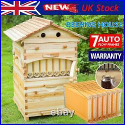 Beekeeping Cedarwood Bee Hive House Box & 7x Beehive Frames Harvesting Honey Set