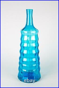Blenko Joel Myers Beehive Bottle Decanter # 658L Hand Blown Glass Large 16 MCM