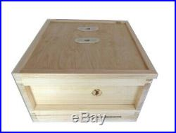 British National Fully Assembled Wooden Bee Hive with 1 Super