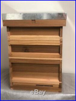 British Standard National Beehive, Cedar wood, Metal Roof, Full Set, Beekeeping
