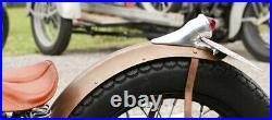 Chrome 1936 CROCKER style TAIL LIGHT for Harley Bobber Motorcycle BEEHIVE LENS