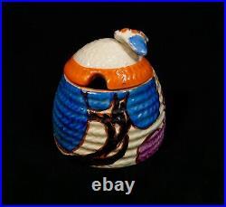 Clarice Cliff Bizarre Autumn Beehive Honey Pot Art Deco Pottery / Antique