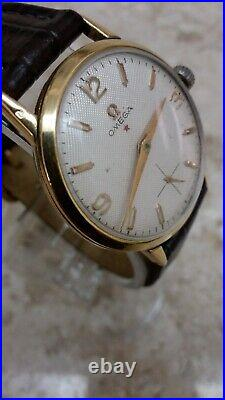 Classic Omega cal 267 Red Star Bee Hive Dial With Golden Hours and Hands