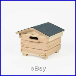 Dragonfli Wooden Bumble Bee Hive Bee House Hotel with Live Colony of Bees