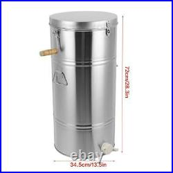 Durable 2 Frame Manual Beehive Honey Extractor Centrifugal Force Stainless Steel